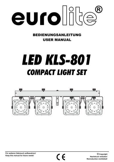 USER MANUAL LED KLS-801 Compact Light Set