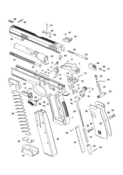 Explosionszeichnung CZ 75 SP-01 Shadow
