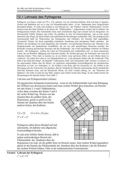 12.1 Lehrsatz des Pythagoras
