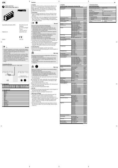 Terminal de *) Hinweis ę Detaillierte Angaben zum Produkt