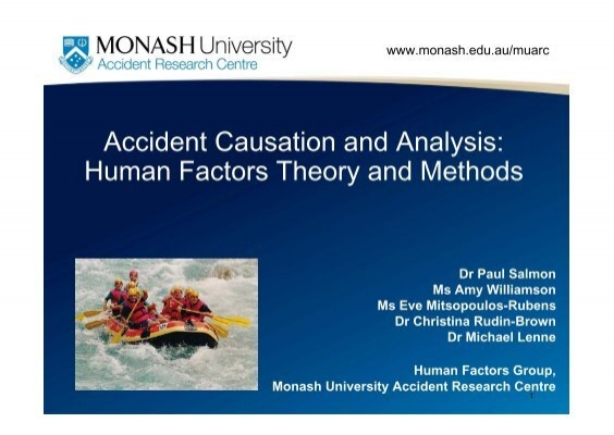 Accident Causation and Analysis Human Factors Theory
