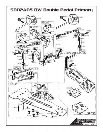 5002ADS DW Double Pedal Primary