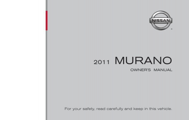 2011 Nissan Murano CrossCabriolet Owner's Manual