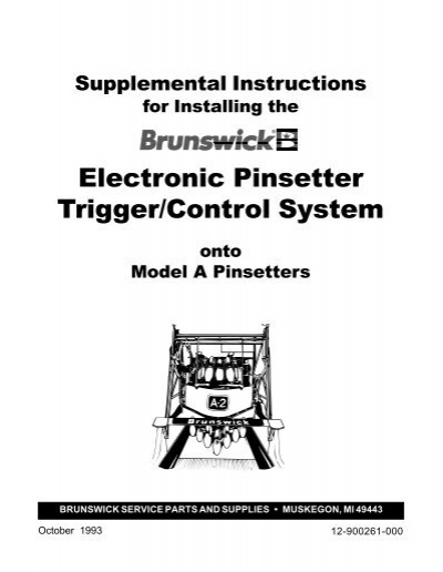 Electronic Pinsetter Trigger/Control System-Model