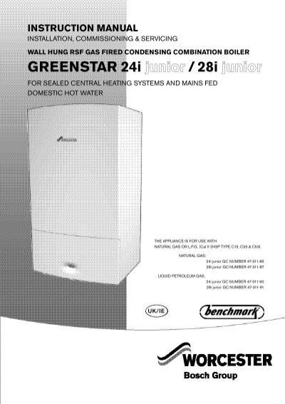 Worcester Bosch Greenstar 24i Junior Parts List