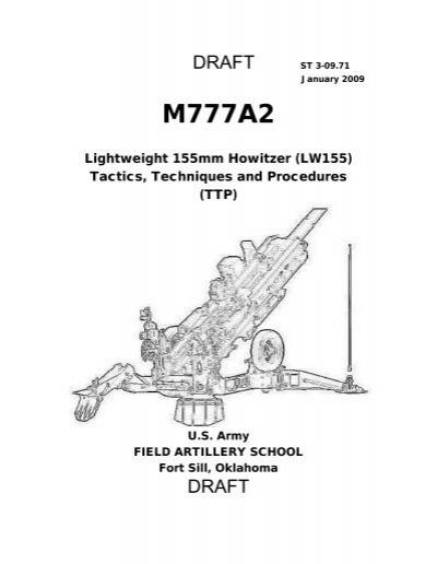 ST 3-09.71 M777A2 TTP's (Draft).