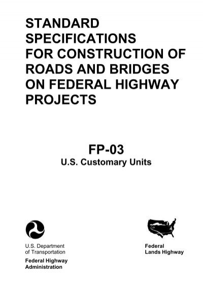Standard Specifications for Construction of Roads and
