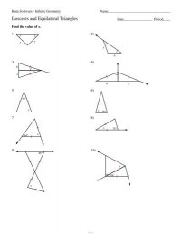 4 6 Isosceles And Equilateral Triangles Worksheet ...