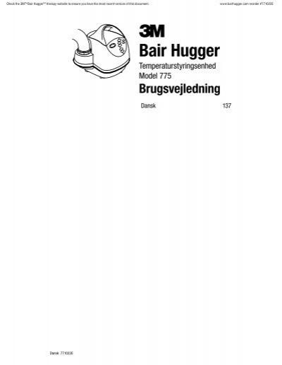 3M Bair Hugger Therapy Operator's Manual Reorder