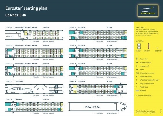 Eurostar Seat Map London To Brussels | Elcho Table