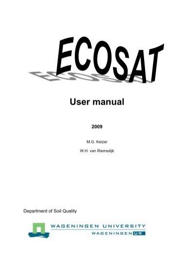 ECOSAT A computer program