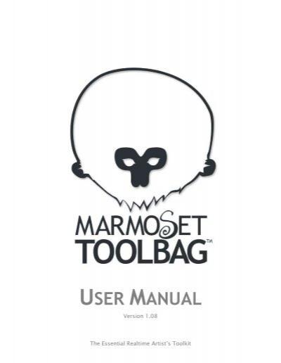 Marmoset Toolbag User Manual
