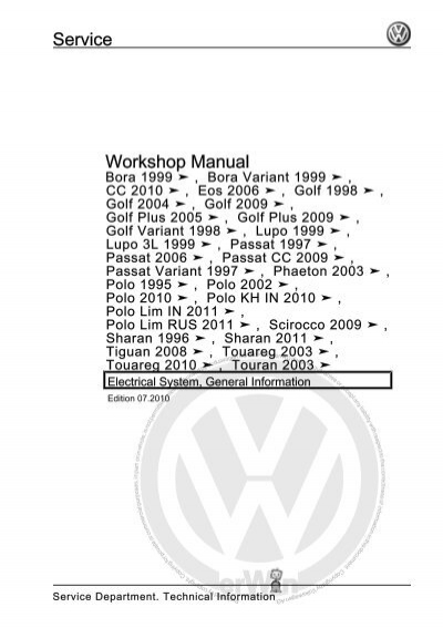 Volkswagen Phaeton 2003 Manual Pdf Download