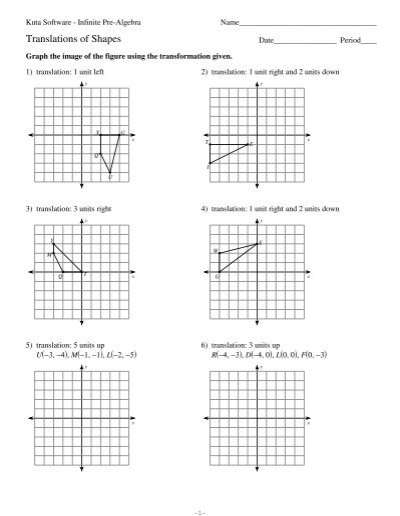 Precalculus Transformation Worksheet. parent functions and