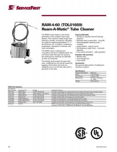 RAM-4-60 (TOL01659) Ream-