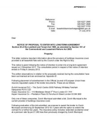Leaseholder Property Insurance Contract Report