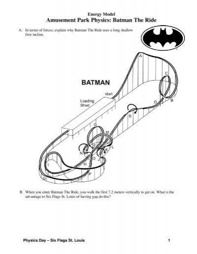 Amusement Park Physics: Batman The Ride