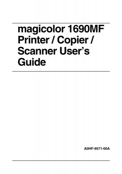 Software Printer Magicolor 1690Mf / Konica Minolta Driver