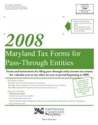 Maryland Tax Forms for Pass-Through Entities - the ...