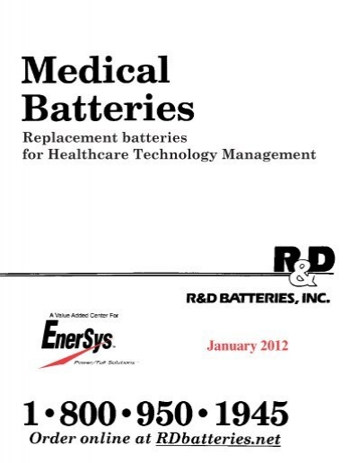 MEDICAL BATTERIES MFG/MOD