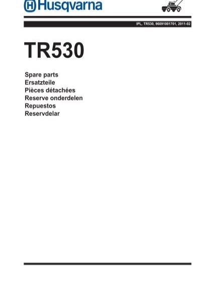 IPL, TR530, 96091001701, 2011-02, Tiller