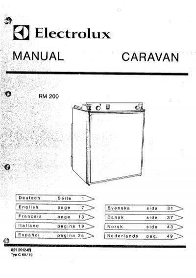 Koelkast Electrolux RM200 handleiding