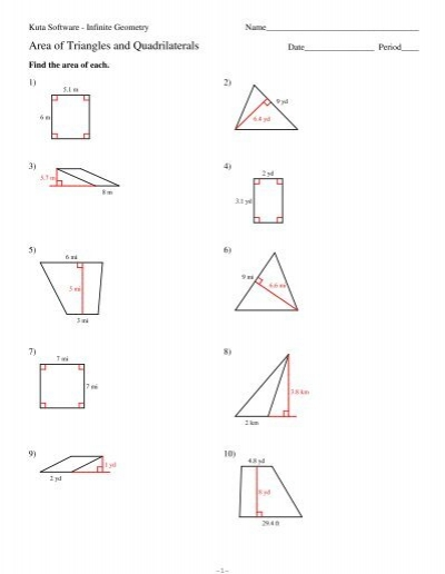 6-Area of triangles and quadrilaterals