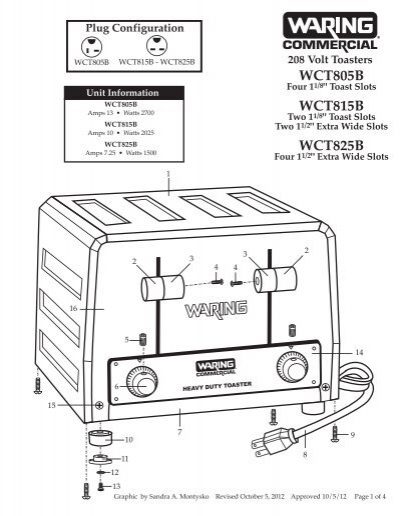 Waring Wct805 Wiring Diagram Free Download • Oasis-dl.co