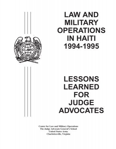 LAW AND MILITARY OPERATIO