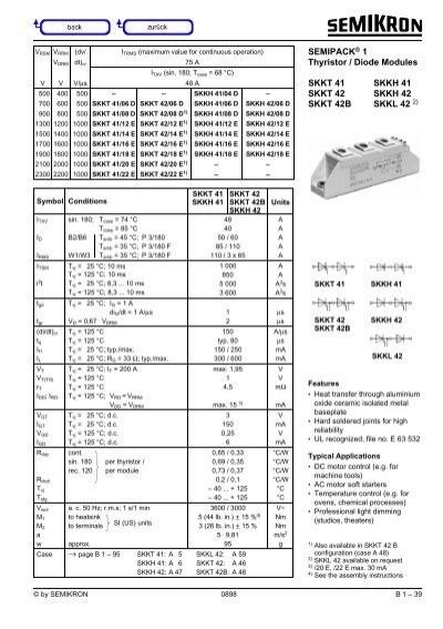 SEMIPACK® 1 Thyristor / Diode Modules SKKT 41 SKKH