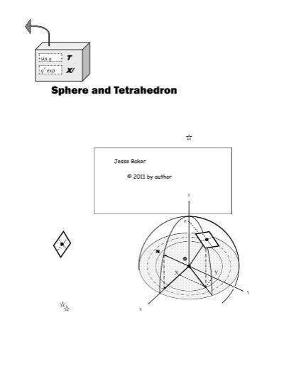Sphere & Tetrahedron: Amateur Exploration of Spherical