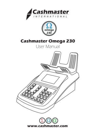 Cashmaster Omega 230 User Manual