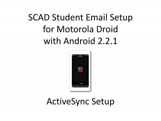 ActiveSync setup is compl