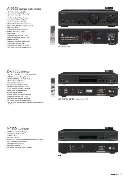 A-9355 Integrated Digital Amplifier DX-7355 CD Player T