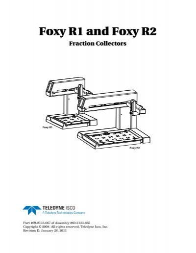 Foxy R1 and Foxy R2 Fraction Collectors