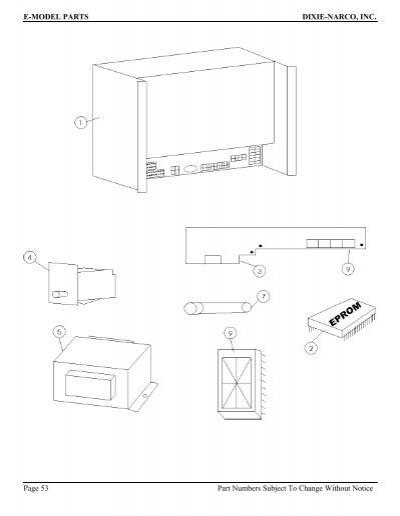 E-MODEL PARTS DIXIE-NARCO