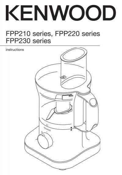 Kenwood Food Processor Instruction Manual FPP230 series