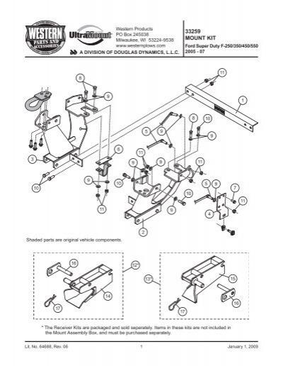 PL Mount Kit UT Ford Super Duty F-250/350/450/550 2005-07