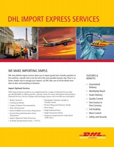 DHL IMPORT EXPRESS SERVICES