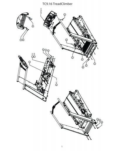 Nautilus TC9.16 Treadclimber Exploded Parts Manual