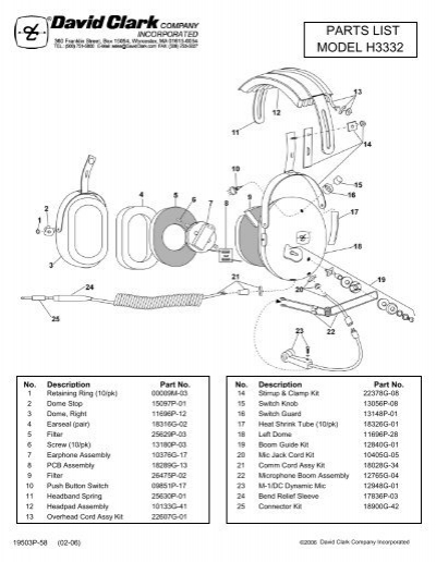 David Clark Headset Wiring Diagram : 34 Wiring Diagram