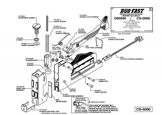 Duo-Fast CS-5000 schematic (D60040)