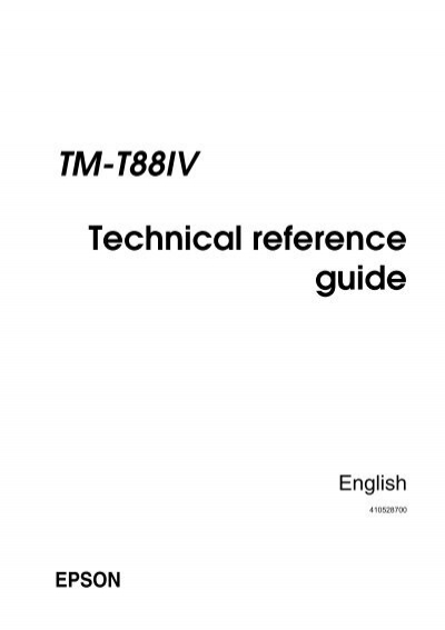 TM-T88IV Technical Reference Guide