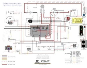 Wiring Diagram for 3648v Stand Up Models with Curtis Controller