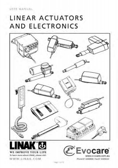 LINAK Linear Actuators & Electronics User Manual
