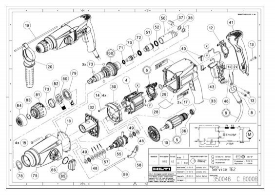 Hilti Parts Manual. Wiring. Wiring Diagram Images