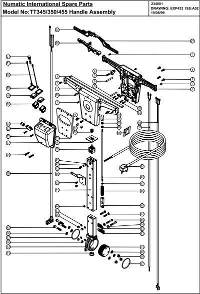Numatic International Spare Parts Model No:TT345/350