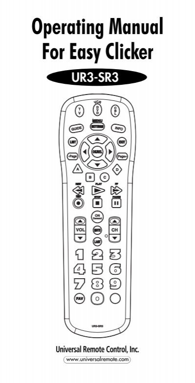Digital Prism 8 In 1 Universal Remote Manual