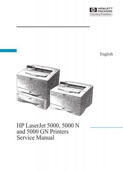 HP LaserJet 5000 Printer Service Manual