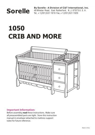 Sorelle Tuscany 4-in-1 Convertible Crib and Changer